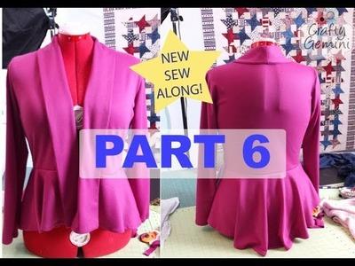 Sew Along: M6844 Part 6- DIY Peplum Cardigan