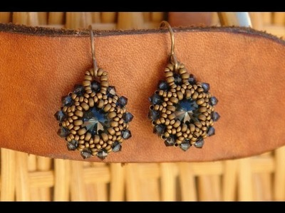 Sidonia's handmade jewelry - Rivoli earrings tutorial