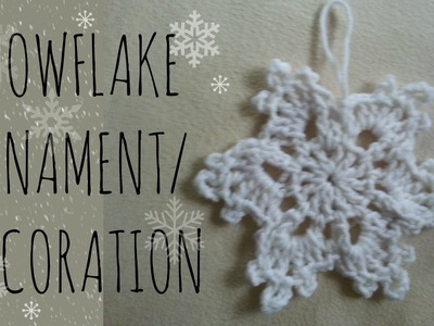Snowflake | Crochet Pattern | Pinterest Tutorial
