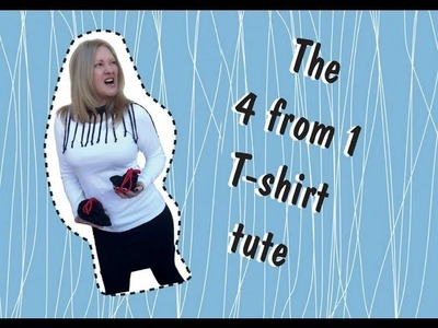 The 4 from 1 t-shirt tute: a diy no sew skirt, necklace & bag tutorial