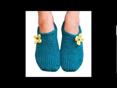 Two Hour Toe Up Slippers - Knit Slipper Pattern Presentation