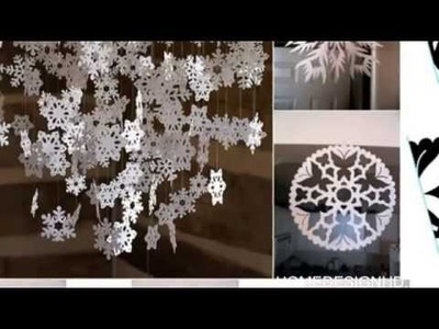 10 Amazing Decoration Ideas Using Paper Snowflakes