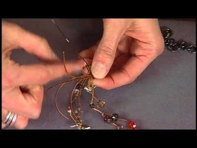 1609-4 Candie Cooper creates a multi-strand leather necklace on Beads, Baubles & Jewels.