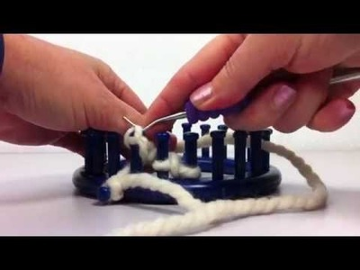 Knitting 3 Stitch I Cord Bind Off : Knitting loom, Crochet cast on and join in the round in loom knitting (From H...