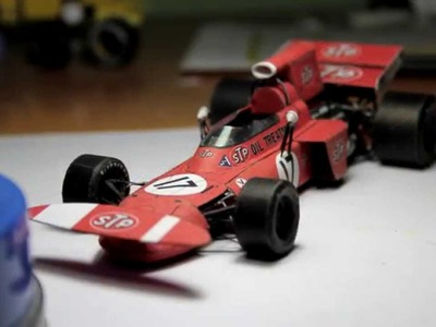 Accurate March 711 F1 Paper Model (papercraft) - Making of