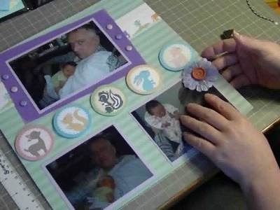 Baby Boy 2 Page Scrapbook Layout Series #2