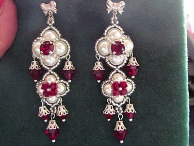 "Beading4perfectionists : ""The Queens Ruby's"" ;-) Earrings beading tutorial for advanced beaders"