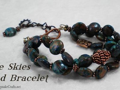 Blue Skies Bead Bracelet Tutorial