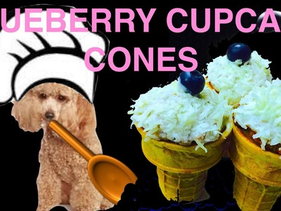 BLUEBERRY Cupcake Cones - DOG Cupcakes.Pupcakes in ice cream cones -DIY Dog Food by Cooking For Dogs
