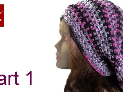 Bob Marley Crochet Slouch Hat Part 1