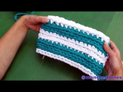 Bolso rectangular de trapillo | Tutorial DIY Crochet XXL