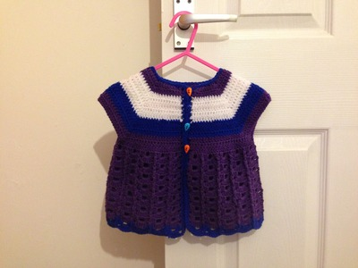 Crochet baby girls top sizes 0-18mth