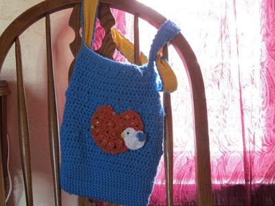 Crochet Hobo Bag part 1