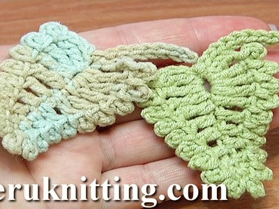 Crochet Leaf Picots Around Tutorial 13
