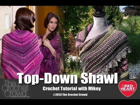 Crochet Top Down Shawl Tutorial with Mikey from The Crochet Crowd