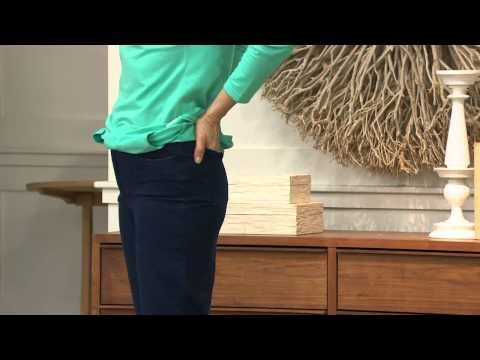 """Denim & Co. """"How Comfy"""" Tall Boot Cut Knit Jeans with Rachel Boesing"""