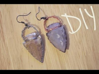 DIY: Arrow Head Earrings