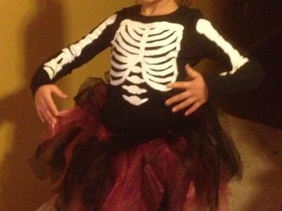 DIY: Ballerina Skeleton Costume ♡ Theeasydiy #FashionDIY