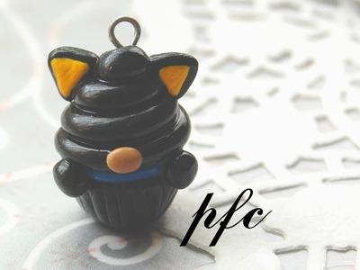 DIY Chococat Cupcake Polymer Clay Charm Tutorial