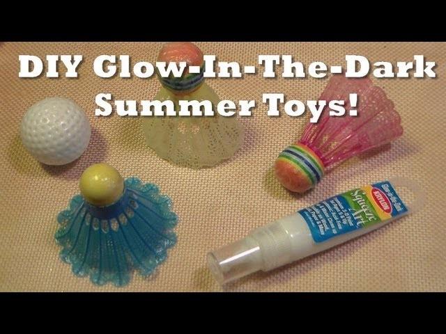 DIY glow in the dark summer sport toys