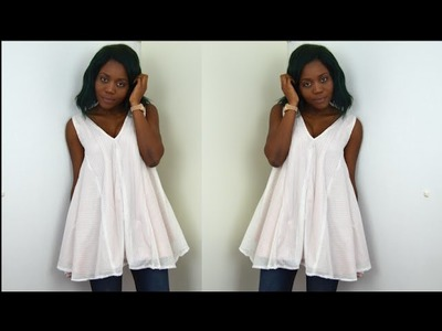 DIY. How To Make A Flared Dress.Blouse