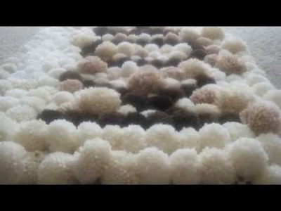 DIY How to Make POM POM RUG, Tapete de Pom Pom