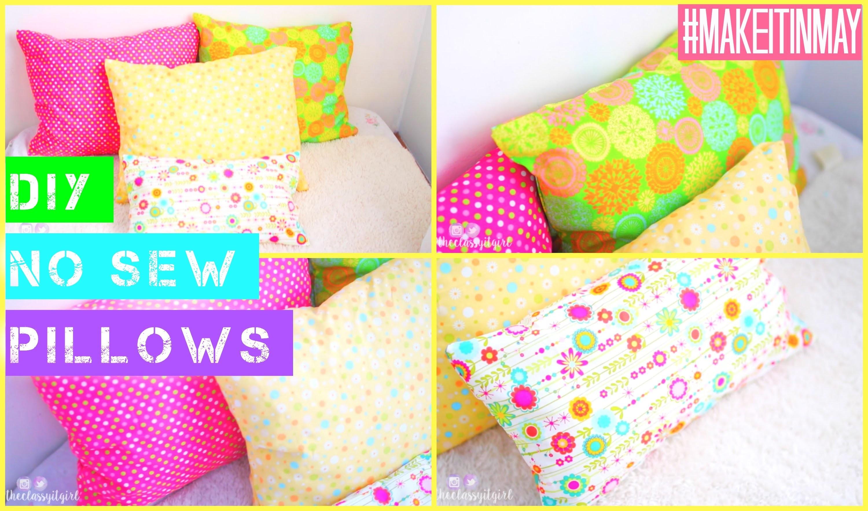 DIY No-Sew Pillows | #MAKEITINMAY 2015