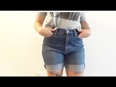 DIY: Update Jean Short Tutorial (Quick and Simple + Bloopers!)