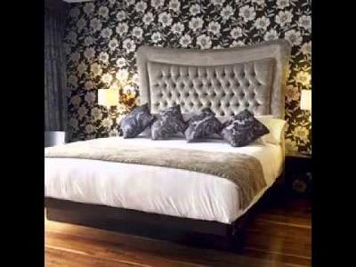 DIY Wallpaper bedroom design decorating ideas