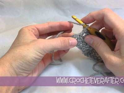 Double Crochet Tutorial #4: DC Into the Last Stitch of the Row