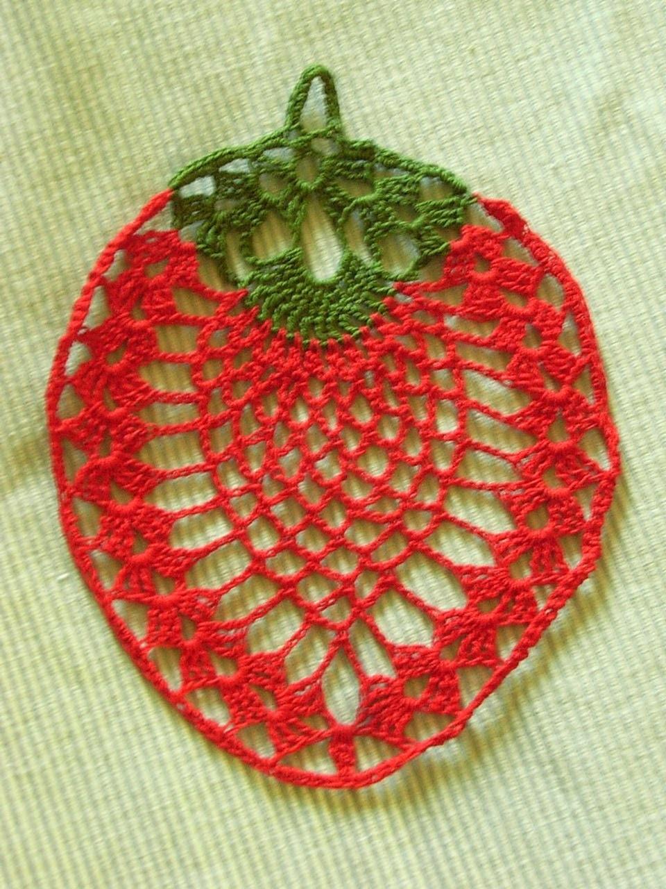 Erdbeere häkeln strawberry crochet*Tablecloth crochet*Teil 2*Tutorial Handarbeit