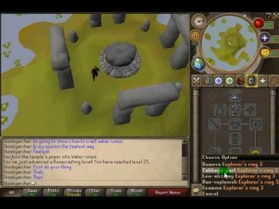 Fastest way to craft Water Runes. Non-Member