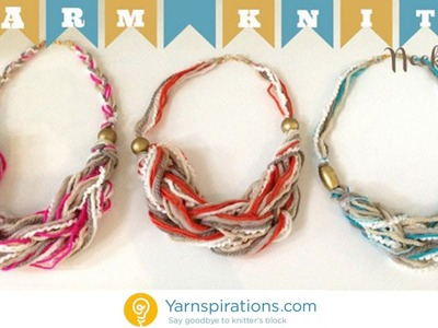 How To Arm Knit a Necklace