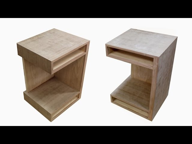 How to build a bedside table nightstand mid century modern for Build a bedside table