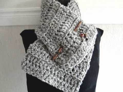 HOW TO CROCHET A BEGINNER COWL, scarf, free crochet pattern