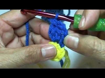 How to #crochet a flower tutorial. mutlti petal flower