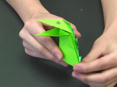 How to Fold an Origami Snapping Dinosaur