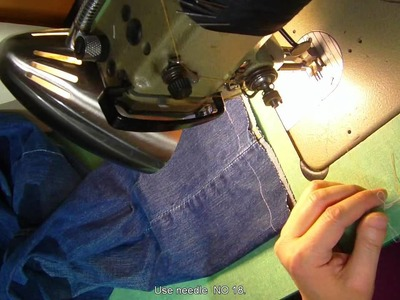How to hem thick jean pants sewing tip