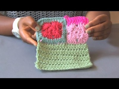 How to Join Different-Sized Crochet Squares Together : Crochet Projects