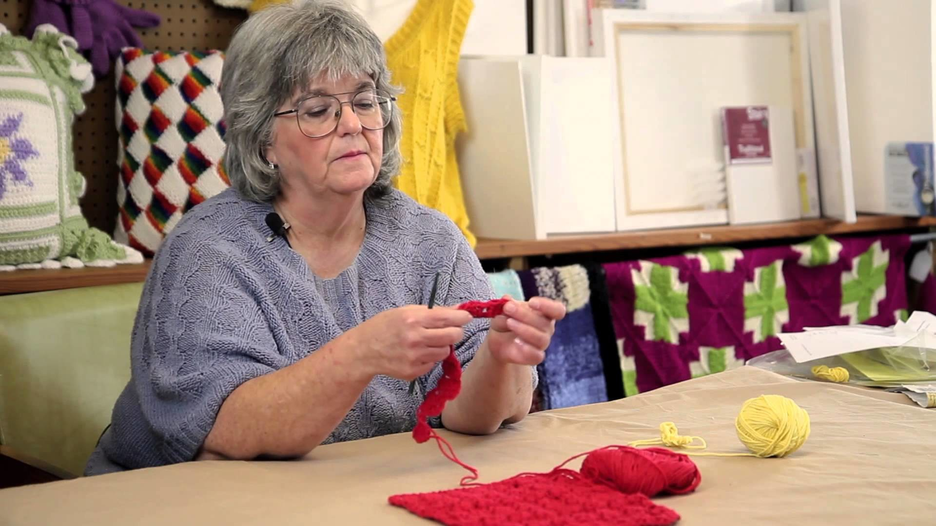 How to Make a Diagonal Cluster in Crochet : Fun Crochet Projects