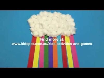 How to make a Rainbow cloud craft