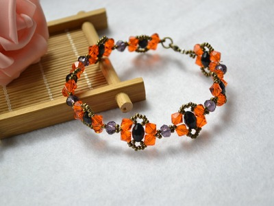 How to Make a Vintage Beaded Bracelet with Bronze Seed Beads 2