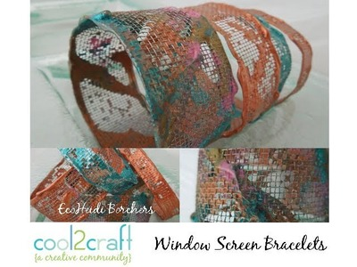 How to Make a Window Screen Bracelet by EcoHeidi Borchers