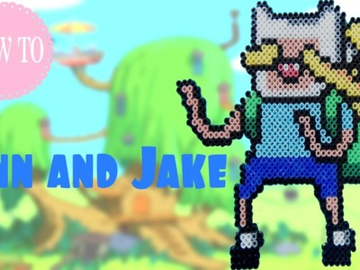 How to make Finn and Jake (Adventure Time) in Perler Beads