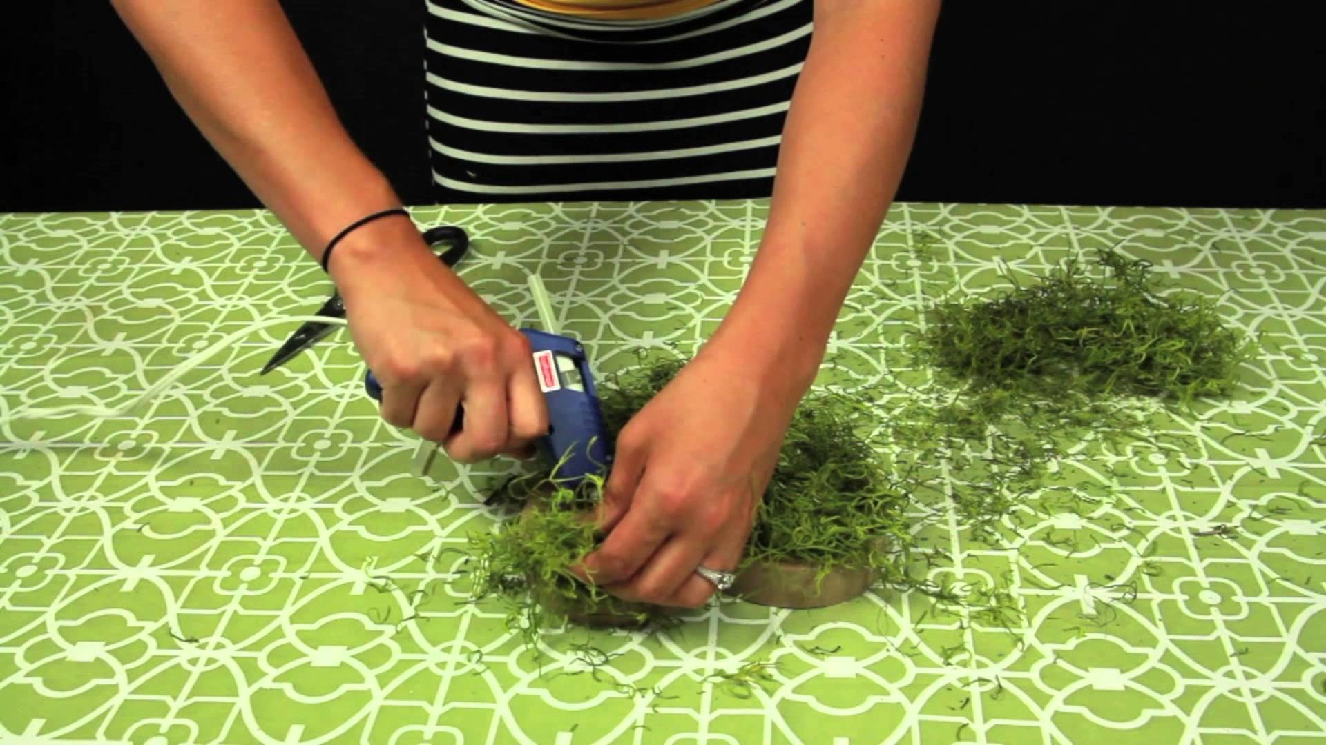How to Make Moss Letters