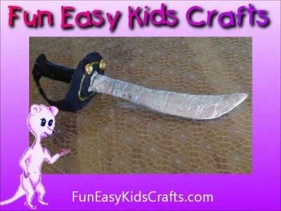 Make a pirate cutlass sword