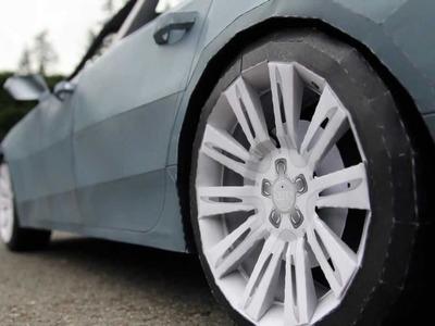 Making of 2012 Audi A7 Papercraft