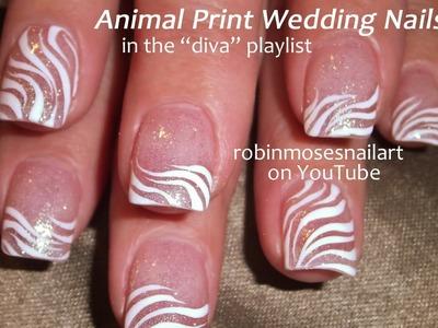 Nail Art Tutorial   Diy White Zebra Print Nail Design