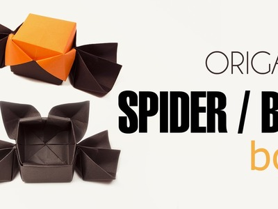 Origami Halloween Box Spider or Bat Lid