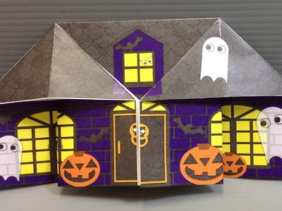 Origami Halloween Haunted House - Print Your Own Paper!